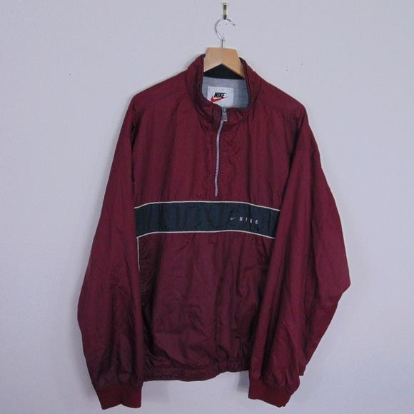 Vintage 90s Nike Swoosh Windbreaker 14 Zip pullover jacket